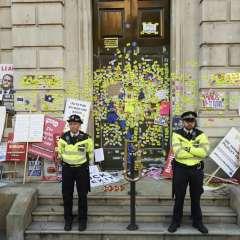 Masiva manifestación en Londres en reclamo por Brexit. Foto: AFP