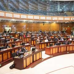 QUITO, Ecuador.- Funcionarios del Ministerio de Justicia, del Interior y ECU911 fueron citados al pleno. Foto: Asamblea
