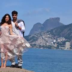 Isis Valverde y Caio Castro graban escenas de Cuchicheos en Río de Janeiro
