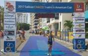 La ecuatoriana Elizabeth Bravo se quedó con el segundo lugar en el Panamericano de Triatlón.
