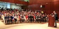 QUITO, Ecuador.- El presidente del CNE, Juan Pablo Pozo, resaltó el proceso democrático mediante el cual fueron electas las nuevas autoridades del legislativo. Foto: CNE