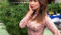 La actriz y presentadora Andrea Escalona caminó en traje de baño en ciudad de México. Foto: Tomada de andy_escalona