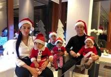El astro de la Juventus, CR7 junto a sus hijos y su novia.