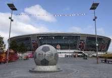 El estadio Donbass Arena de Donetsk se encuentra en la ruina debido a la guerra que existe en Ucrania.