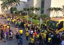 Los seguidores del club canario continúan festejando la clasificación a semifinales. Foto: Tomado de Twitter Estadio.
