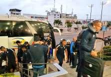 La delegación de Gremio llegó a Guayaquil para enfrentar a Barcelona por semifinales de la Libertadores.