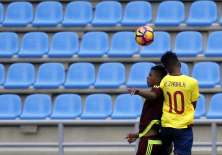 Jordan Rezabala (d.) también le convirtió a Venezuela en el primer partido. Foto: Tomada de juegosbolivarianos2017.com