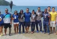 El equipo de canotaje acumuló 3 medallas de oro, 4 de plata y 1 de bronce. Foto: Tomada de la cuenta twitter @ECUADORolimpico