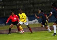 La selección femenina ecuatoriana cayó ante Colombia por el Sudamericano Sub 20.