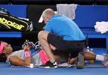 El español tuvo que retirarse del primer Grand Slam de la temporada por una lesión.