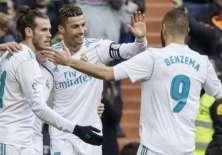Gareth Bale, Cristiano Ronaldo y Karim Benzema volvieron a anotar en un mismo partido del Real Madrid.