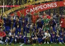 El conjunto catalán conquistó su Copa del Rey número 30. Foto: LLUIS GENE / AFP