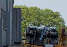 La Policía uruguaya desconoce la identidad de los criminales. Foto: Pablo PORCIUNCULA / AFP