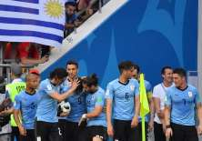 Los 'celestes' superaron 1-0 a los árabes, con este resultado también pasaron los rusos. Foto: Pascal GUYOT / AFP