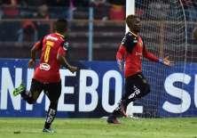 Los azuayos quedaron 2-2 ante Jorge Wilstermann en el estadio Alejandro Serrano Aguilar. Foto: RODRIGO BUENDIA / AFP