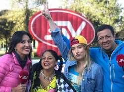 QUITO, Ecuador.- Las actrices derrocharon alegría en varios programas capitalinos.