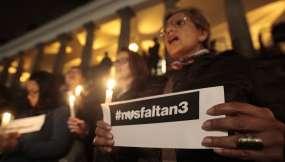 QUITO, Ecuador: Vigilia por periodistas secuestrados en Mataje. Fotos: API.