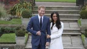 El 27 de noviembre del 2017 en el palacio de Kensington cuando aún estaban comprometidos. Foto: DANIEL LEAL-OLIVAS / AFP