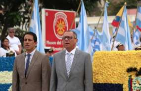 GUAYAQUIL, Ecuador.- El vicepresidente de la República, Jorge Glas, participó la mañana de este 25 de julio de 2017 en la tradicional colocación de ofrenda floral. Foto: Twitter Vicepresidencia