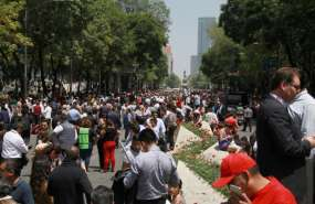 """""""No hay ningún compatriota reportado desaparecido"""", señala el Ministerio. Foto: AFP"""