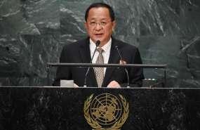 NACIONES UNIDAS, EE.UU.- Ri Yong Ho también defendió a los gobiernos izquierdistas de Cuba y Venezuela. Foto: AFP.