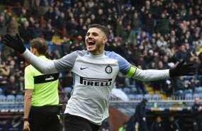 El argentino Mauro Icardi impuso su marca con la camiseta del Inter de Milán.