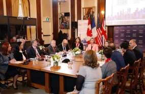 La presencia de Espinosa se produjo por invitación especial del Gobierno de Canadá. Foto: Cancillería