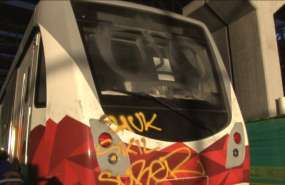 El metro de Quito fue vandalizado el pasado mes de septiembre. Foto: Alcaldía de Quito