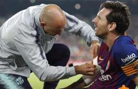 Messi fue atendido en la cancha y posteriormente se conoció su diagnóstico. Foto: FC Barcelona