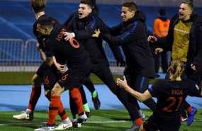 Los croatas superaron 3-2 a los españoles en Zagreb. Foto: AFP