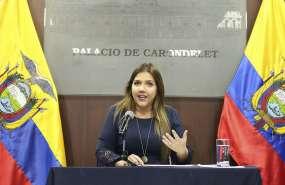 QUITO, Ecuador.- La funcionaria no podrá salir del país y deberá presentarse cada 8 días ante la justicia. Foto: Vicepresidencia