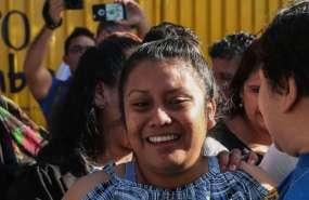 La mujer salió de prisión este viernes 15 de febrero tras casi tres años de haber parido a un bebé muerto.