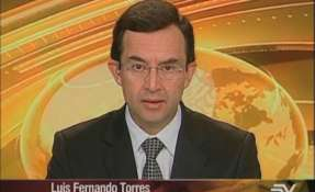 ECUADOR.- Luis Fernando Torres durante la entrevista en Contacto Directo. Foto: Ecuavisa