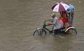 Más de 24.000 se vieron desplazadas a terrenos altos debido a las intensas lluvias. Foto: AP
