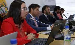 Sesión de la Comisión de Régimen Económico. Foto: API