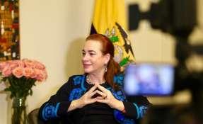 """PARÍS, Francia.-  La canciller Espinosa opinó que """"las medidas coercitivas"""" de Trump solo logran mayor solidaridad con los pueblos afectados. Foto: Twitter María Fernanda Espinosa."""