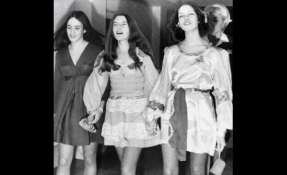 Susan Atkins, Patricia Krenwinkel y Lesli Van Houten, durante los juicios en su contra por los asesinatos de agosto de 1969.