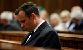Óscar Pistorius estará 13 años y 5 meses en prisión por el asesinato de su novia Reeva Steenkamp. Foto:AFP