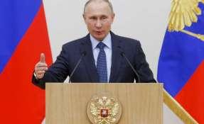 Vladímir Putin llegó a Siria y autorizó la retirada de parte de las tropas rusas del país árabe. Foto: AP