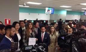 """""""Las opiniones no van a ser acalladas cada vez que a ellos les moleste"""", dijo Reyes. Foto: Twitter Cristina Reyes"""