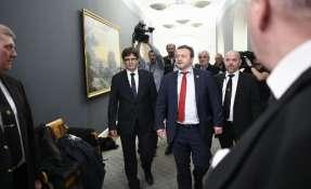 Puigdemont fue designado por el presidente del parlamento regional como el candidato para intentar formar un nuevo gobierno. Foto: AFP