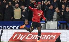 Romelu Lukaku hizo los dos goles de los 'diablos rojos'. Foto: AFP