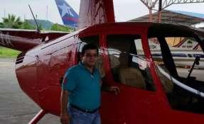 Luis Fierro, se despeñaba como técnico de la aeronave siniestrada. Foto: cortesía