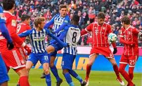 Bayern no pudo en casa ante el Hertha y puso fin a una racha de 22 victorias.