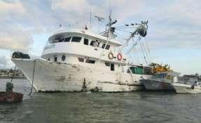 """La embarcación """"Doña Leti - MT. P-02-00104"""". Foto: Dirnea"""