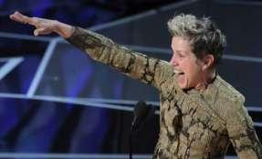 """La protagonista de """"Tres anuncios por un crimen"""", Frances McDormand. Foto: REUTERS"""