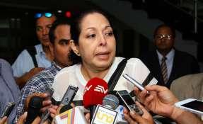 El fiscal general encargado recibió este viernes a la viuda del general Jorge Gabela. Foto: Archivo Andes