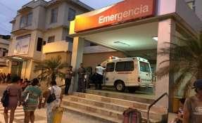 Una mujer resultó herida y fue llevada al hospital Teófilo Dávila. Foto: Twitter