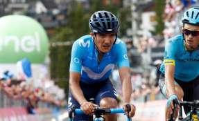 El ecuatoriano terminó 18 en la etapa 18 del Giro de Italia. Foto: @Movistar_Team