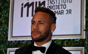 SAO PAULO, Brasil.- Neymar durante un evento para su fundación en el país 'carioca'. Foto: AFP